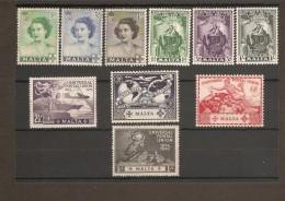 MALTA 1949 - 1951 SETS SG 251/260 UNMOUNTED MINT/MOUNTED MINT Cat £7.50 - Malta (...-1964)