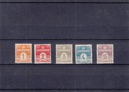 Danemark - Yvert 48 / 52 ** - MNH - Valeur 101 Euros