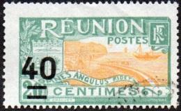 Réunion Obl. N°  97 - Site - Vue De La Rade De Saint Denis - 40c Sur 20c Vert Et Orange - Oblitérés
