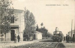 30 - GARD - Gallargues - Gare - Chemin De Fer - Train - Gallargues-le-Montueux