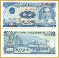 Vietnam Viet Nam 5000 Dong UNC Banknote / Billet 1991 - P#108 - Vietnam