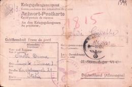 CARTOLINA MILITARE 1943 STALAG VI-C - FELDPOST - PRIGIONIERI DI GUERRA -- - Vecchi Documenti