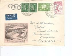 JO De Helsinki -1952 ( Lettre Par Avion De Finlande De 1952 Vers La Grande-Breagne à Voir)
