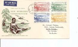 Nouvelles -Hébrides ( FDC De 1957 Voyagé Vers Les USA à Voir) - FDC