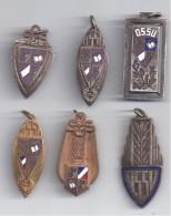 Lot De 6 Médailles Sport Universitaire ( Championnats D´Académie Et Championnats De France ) - Sports