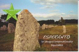 (AKE 117) Esperanto Card From France Megalites Of Carnac - Karto El Francio Pri Megalitoj En Karnako - Esperanto