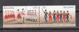 Moldova Moldawien 2015 MNH ** Mi. Nr. 928-929 Moldova Folk Dance Joint Issue Azerbiajan - Moldawien (Moldau)