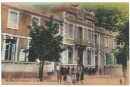 Cpa Gorniès - La Mairie, Les écoles - France