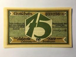 Allemagne Notgeld Bad Suderode 75 Pfennig 1921 NEUF - [ 3] 1918-1933 : Weimar Republic