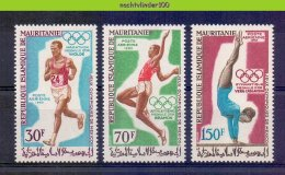 Msi016 SPORT OLYMPISCHE SPELEN GYMNASTICS MARATHON OLYMPIC GAMES MAURITANIE 1969 PF/MNH - Zomer 1968: Mexico-City