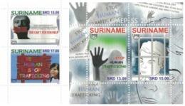 Suriname 2015, UPAEP, Stop Human Traficking, 2val+BF - Surinam