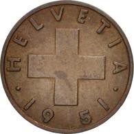 Suisse, Rappen, 1951, Bern, TTB, Bronze, KM:46 - Suiza