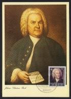BRD 1985 MC MiNr 1249, J.S. Bach Mit SST  ANSBACH  V. 2.8.1985 - Maximum Kaarten