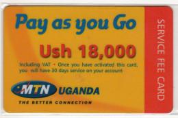 OUGANDA RECHARGE MTN 18,000 USH - Uganda