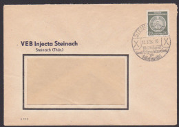 Steinach (Thüringen) 1958 Dienstpost-Brief Werbestempel Schifer Schiefergriffel Holzspielwaren - [6] Democratic Republic