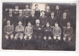 PHOTO DE CLASSE - ECOLE DE GARCONS - CARTE PHOTO - Schools