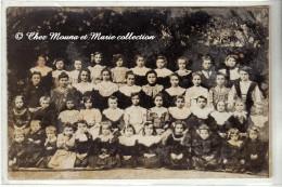 HOUILLES 1909 - PHOTO DE CLASSE - ECOLE DE FILLES - YVELINES 78 - CARTE PHOTO - Schools