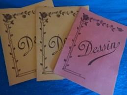 3 Couvertures Seule De  Cahier - Buvards, Protège-cahiers Illustrés