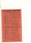 HORAIRE DES AUTOCARS CITROEN ORLEANS BLOIS DU 2 DECEMBRE 1935 - Transports