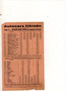 HORAIRE DES AUTOCARS CITROEN ORLEANS TOURS - Transports