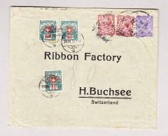 Schweiz Porto 10, 20 Und 30Rp 29.11.1922 H'Buchsee Auf 80Rp Taxierter Brief Aus England - Portomarken