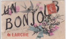 UN BONJOUR DE LARCHE 1908 - Autres Communes