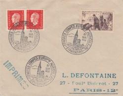 Env Affr Y&T 737 + 685 X 2 Obl TàD CONGRES CONFED EUROPNE AGRICULTURE Du 25.9.1950 - Poststempel (Briefe)