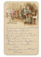 MENU De 1895.. Décor Scène Galante EVENTAIL - Menus
