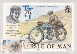 ISLE OF MAN CARTE MAXIMUM   THEME  MOTO/MOTO-CROSS - Moto
