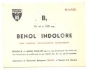 - Buvard Pharmacie - Produits Paharmaceutiques -Benol Indolore - Maisieres Belgique - Produits Pharmaceutiques