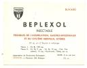 - Buvard Pharmacie - Produits Paharmaceutiques - BEPLEXOL - Injectable   - Maisieres Belgique - Produits Pharmaceutiques