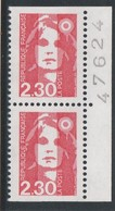 France 1990 - N° 2629a - Paire Neuve** Avec Numéro Provenant Du Carnet - France