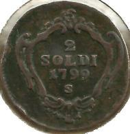 ITALY GORIZIA 2 SOLDI MOTIF FRONT CROWN BACK 1799  VF C-? READ DESCRIPTION CAREFULLY!! - Regional Coins