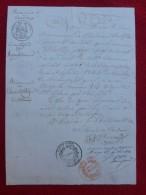 MANUSCRIT CERVIERES TIRAGE AU SORT ALBERTIN JOSEPH CACHET 1840 - Historical Documents