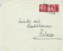 "Elsass, Around 1940, Hindenburg Stamps With Cachets ""BERGHEIM.ELS"" - Zone Française"