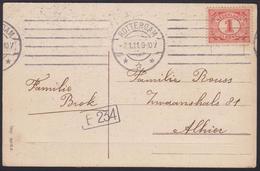 1899 - NEDERLAND - Card + SG 168 + ROTTERDAM - Periode 1891-1948 (Wilhelmina)