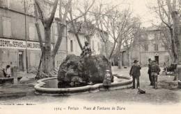 65Bce  84 Pertuis Place Et Fontaine De Diane En TTBE - Pertuis
