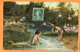 CAL991, Le Loup Et L'Agneau, 4, Bébés, Circulée 1908 - Neonati