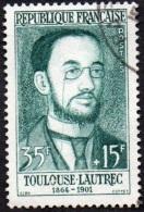 Oblitération Cachet à Date Sur Timbre De France N° 1171 - Peintre Toulouse-Lautrec - Portrait - Gebraucht