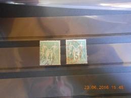 Lot Du 23-06-16-06_n°63 Et 75 Obliteration Rouge - 1876-1878 Sage (Type I)