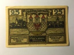 Allemagne Notgeld Strasburg 25 Pfennig 1921 NEUF - Allemagne