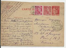 """1939 - CARTE ENTIER TYPE PAIX """"REPONSE"""" De LENINGRAD (URSS) Pour PARIS"""