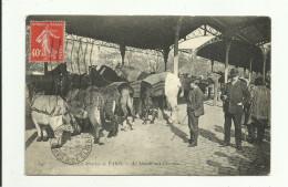 CPA:LES MARCHÉS DE PARIS (75) MARCHÉ AUX CHEVAUX...ÉCRITE - Markets