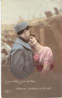 Le Comble Pour Un Poilu - Embrasser .. Sa Femme Sur Le Front !! - Patriotiques