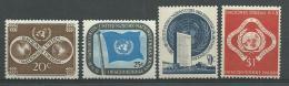 NATIONS UNIES - NEW YORK:  **, N°8 à 11., TB - New York -  VN Hauptquartier