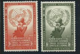 NATIONS UNIES - NEW YORK:  **, N°29 Et 30, TB - Ungebraucht