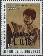 HONDURAS 1974 Air. Sister Maria Rose & Child Surcharged - 18c. On 10c. - Mult  MNH - Honduras