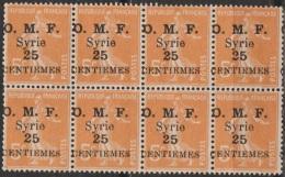 Syrie Française 1922-23 N° 85 (*) Bloc Type Seumeuse Surchargés  (A3) - Nuevos