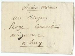 """L. Datée De Marche An 3 En """"Service Militaire"""" Pour Huy - 1794-1814 (French Period)"""