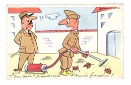 Humour Militaire Militaria Illustration Illustrateur Jean Marc Ben Quoi Je Modernise L' Armée Française Aspirateur - Humor